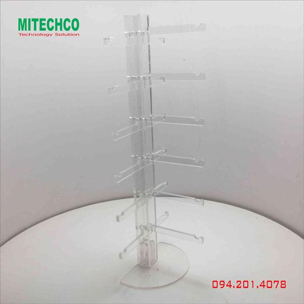 kệ mica trưng bày mắt kính nhiều tầng chất lượng