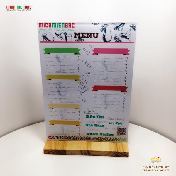 mua menu mica giá rẻ quận cầu giấy ở đâu chất lượng